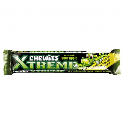 Chewits Xtreme Extremely Sour Apple Chews (UK)